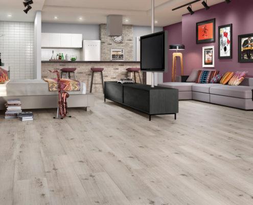 piso vinílico ou laminado